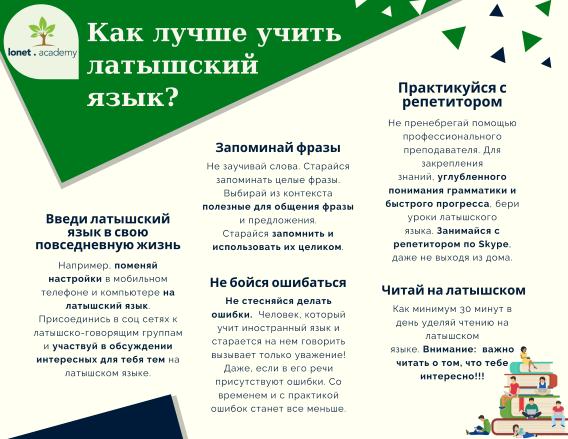 5 простых советов о том, как лучше учить латышский язык. Учи латышский язык с репетитором на Lonet.Academy