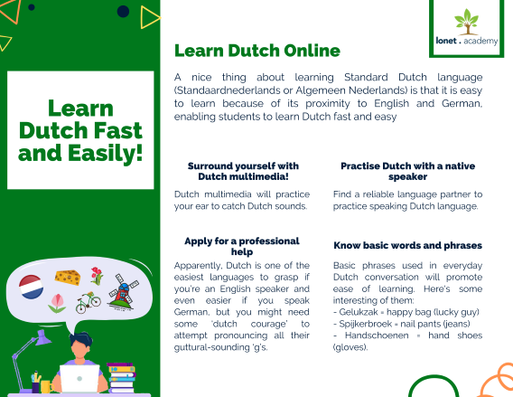 Learn Dutch language online at Lonet.Academy. Learn Dutch fast and easily.