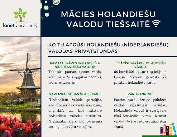 Holandiešu valodas apmācības tiešsaitē. Learn Dutch language with Dutch tutors at Lonet.Academy