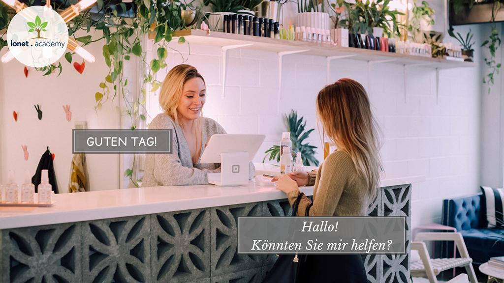 Vācu valodas sarunvārdnīca vai biežāk lietotās frāzes vāciski. No Lonet.Academy vācu valodas privātskolotājiem online.  Basic German phrases for the beginners. Vācu valoda iesācējiem.